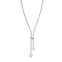REBECCA - BRONZE NECKLACE WITH PEARL AND WHITE ZIRCONS BOULEVARD PEARL