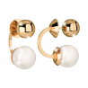 REBECCA - ORECCHINO RIGIDO IN BRONZO CON PERLA HOLLYWOOD PEARL