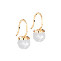 REBECCA - BRONZE EARRING WITH PEARL HOLLYWOOD PEARL