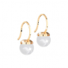 REBECCA - ORECCHINO IN BRONZO CON PERLA HOLLYWOOD PEARL