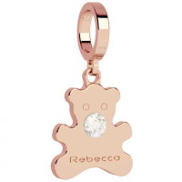 REBECCA - BRONZE PENDANT FOR BRACELET WITH ZIRCONS