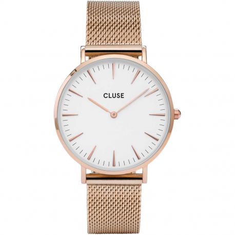 CLUSE LA BOHÈME MESH ROSE GOLD/WHITE