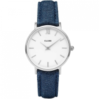 CLUSE MINUIT SILVER WHITE/BLUE DENIM