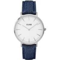 CLUSE LA BOHÈME SILVER WHITE/BLUE DENIM