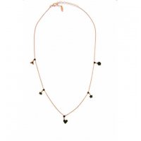 RUE DES MILLE -  NECKLACE WITH FIVE BLACK PENDANTS AND DADO
