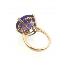 18kt Gold Ring - Amethyst / Diamonds