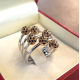 Anello Pavè in oro e Diamanti neri