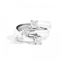 Eternity, three-stone ring in white gold