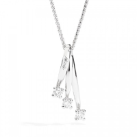 Recarlo Eternity, NECK THREE STONES IN WHITE GOLD