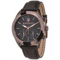 MASERATI Traguardo watch, Blue/Brown