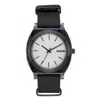 NIXON TIME TELLER Acetate , 40 mm, All Black / Silver