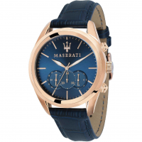 MASERATI Traguardo watch, Rose gold/Blue