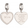 "REBECCA - CHARM IN BRONZO PLACCATO  A FORMA DI CUORE ""MOM"""