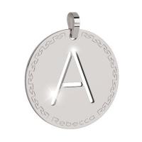 REBECCA -  Bronze Letter Pendant