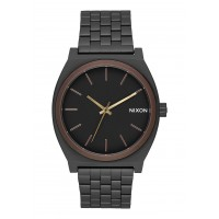 NIXON TIME TELLER All Black / Brown / Brass, 37 MM