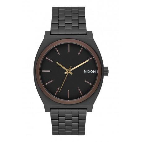 NIXON TIME TELLER All Black / Brown / Brass, 37 MM