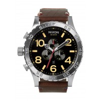 NIXON 51-30 Chrono Leather , 51 mm Black / Brown