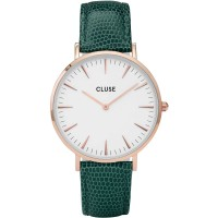 CLUSE LA BOHÈME ROSE GOLD WHITE/EMERALD LIZARD
