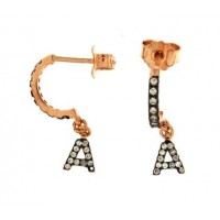 RUE DES MILLE - ZIRCONS EARRINGS WITH INITIAL