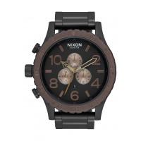 NIXON  51-30 Chrono , 51 mm  All Black / Brown / Brass
