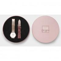 CLUSE Negin Gift Box - Minuit Rose Gold Mesh/Pink Velvet