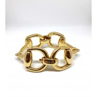 GUCCI Horsebit large bracelet in 18kt yellow gold