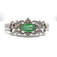 Bracciale in oro con Smeraldo e Diamanti