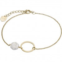CLUSE - IDYLLE CHAIN BRACELET WITH OPEN MARBLE HEXAGON