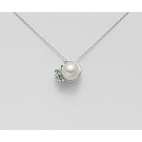 Collana Mikiko con Diamanti e Smeraldi