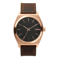 NIXON TIME TELLER ROSE GOLD / GUNMETAL / BROWN , 37 MM