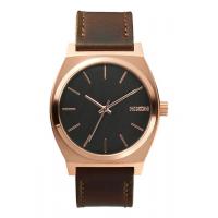 NIXON TIME TELLER ROSE GOLD / GUNMETAL / BROWN , 37 MM