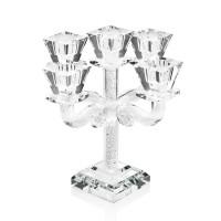 Candeliere a cinque fiamme in cristallo