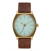 NIXON TIME TELLER BRASS / GREEN CRYSTAL / BROWN, 37 MM