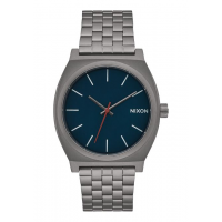 NIXON TIME TELLER ALL GUNMETAL / DARK BLUE, 37 MM