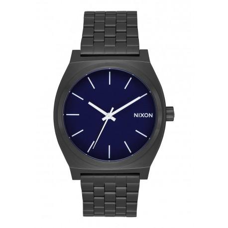 NIXON TIME TELLER All Black / Dark Blue, 37 MM