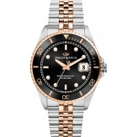 PHILIP WATCH CARIBE ONLY TIME STEEL/ROSE GOLD