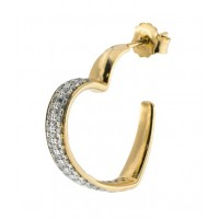 RUE DES MILLE - MONO-EARRING HEART – WINTER CAPSULE COLLECTION