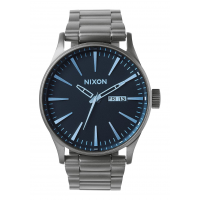 NIXON SENTRY SS GUNMETAL / BLUE CRYSTAL, 42 MM
