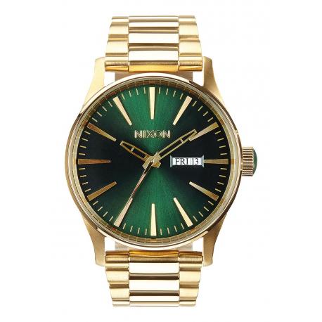 l'ultimo 14210 566f1 NIXON SENTRY SS GOLD / GREEN SUNRAY, 42 MM - RD Preziosi - Gioielli &  Orologi