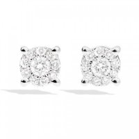 Recarlo Love Knot, EARRINGS SUNFLOWER SETTING ON WHITE GOLD