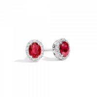 RECARLO GEMMA, EARRINGS IN WHITE GOLD, RUBY