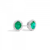 RECARLO GEMMA, EARRINGS IN WHITE GOLD, EMERALDS