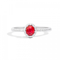 RECARLO GEMMA, RING IN WHITE GOLD AND RUBY