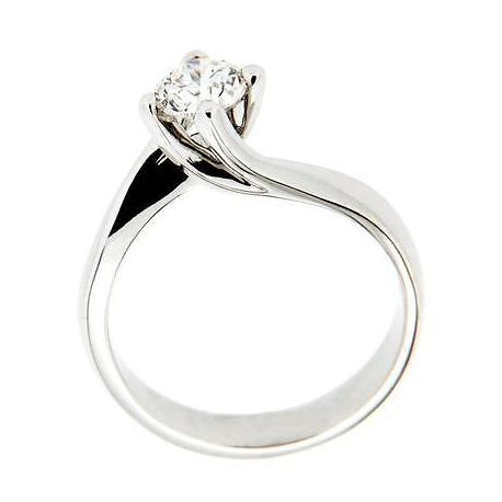 Solitaire Ring In 18kt Gold With Diamond Mod.Valentine