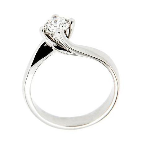 Anello Solitario in oro 18kt mod. Valentino con Diamante