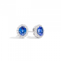 RECARLO GEMMA, EARRINGS IN WHITE GOLD, SAPPHIRES
