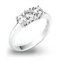 Anello Trilogy in oro 18kt con Diamanti