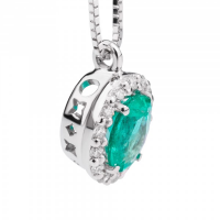 RECARLO GEMMA, NECKLACE IN WHITE GOLD, EMERALD