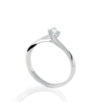 DonnaOro Solitaire ring in 18kt Gold with Diamond