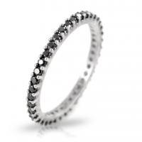 Veretta Ring in 18kt Gold with Black Diamonds